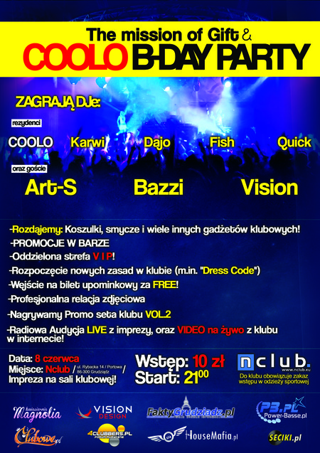 Nclub Grudziadz - The Mission Of Gift (08.06.2012)