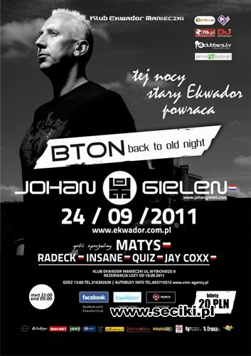 Back To Old Night with Johan Gielen Ekwador (24.09.11)
