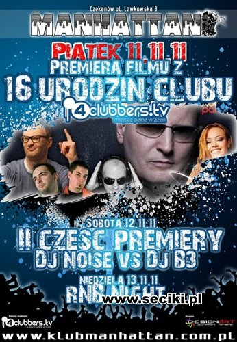 Manhattan Club Czekanów - DJ B3 In The Mix (12.11.2011)