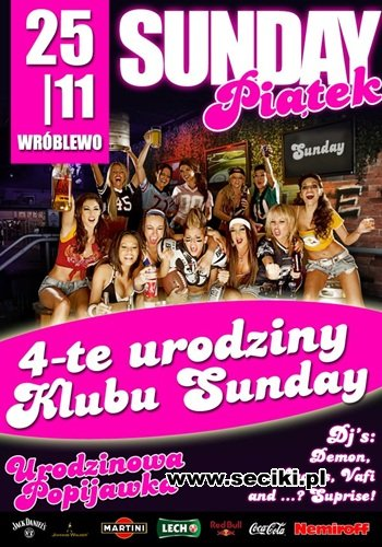 Sunday Club - Dj Liquid 4 Urodziny Klubu (25.11.2011)