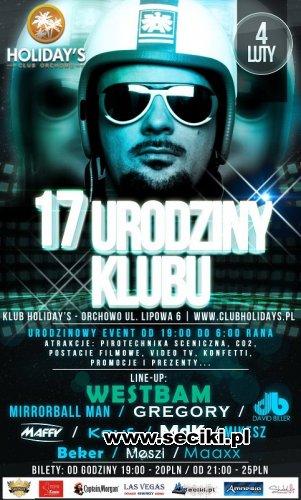 Holidays Club, Orchowo - 17 udziny klubu - Dj Maaxx (4.02.2012)