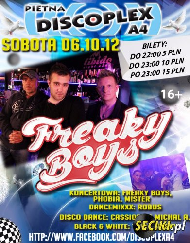 FREAKY BOYS  DISCOPLEX A4 06.10.2012