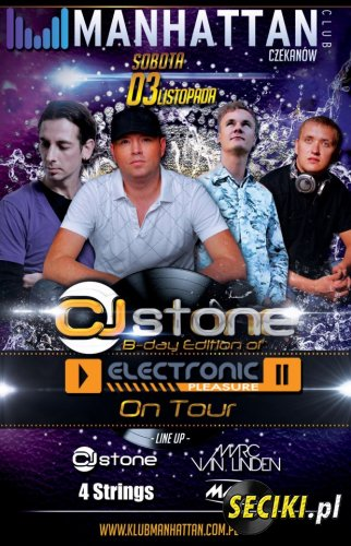 CJ STONE B-DAY PARTY & MARC VAN LINDEN, 4 STRINGS, MAFFY @ MANHATTAN CLUB C ...