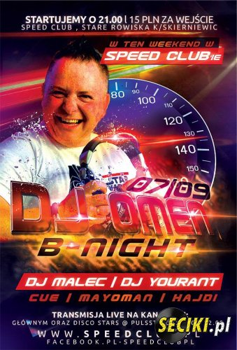 Speed Club Rowiska - Dj Omen B-Night sRainStage (07-09-2013)
