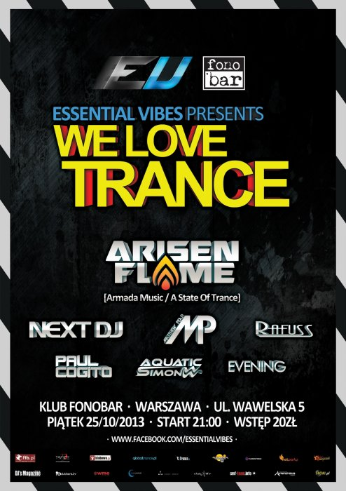 Essential Vibes pres. We Love Trance (25.10.2013)