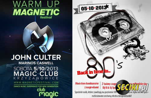 Club Magic Krzyzanowice - Back in Time to 80's SalaVIP (05-10-2013)