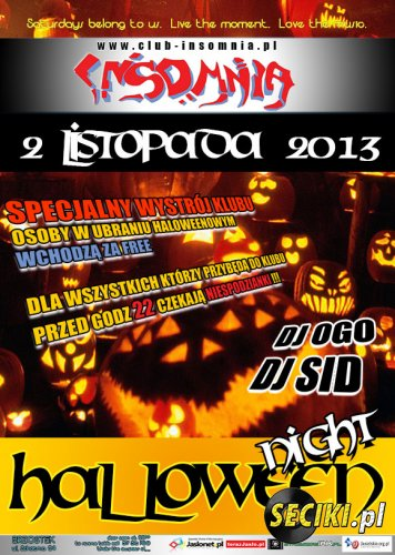 Club Insomnia (Brzostek) - Halloween Night (02.11.2013)