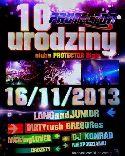 Protector (Biała) - Dj Szaman @ X Urodziny Klubu (16.11.2013)