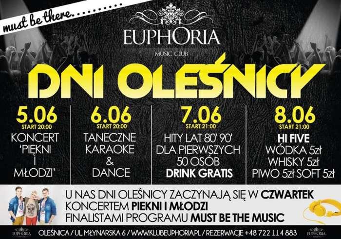 Klub Euphoria Oleśnica - Najnowsze Sety
