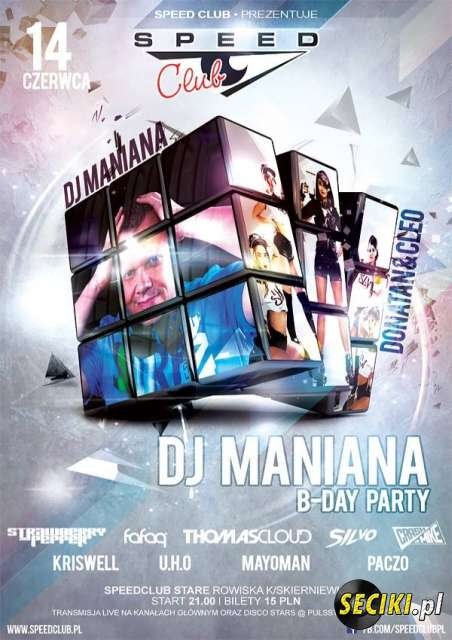 Speed Club -  Dj Maniana B-Day Party [Rain Stage] 14.06.2014