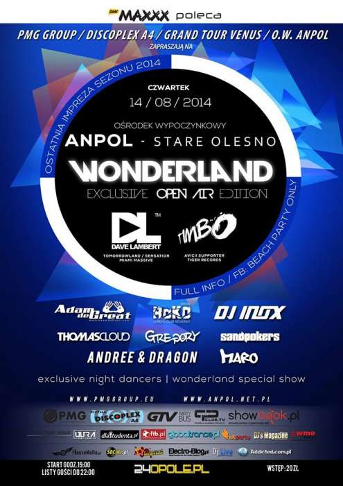 WONDERLAND - Exclusive Open Air Edition (Anpol - Stare Olesno) 14.08.14