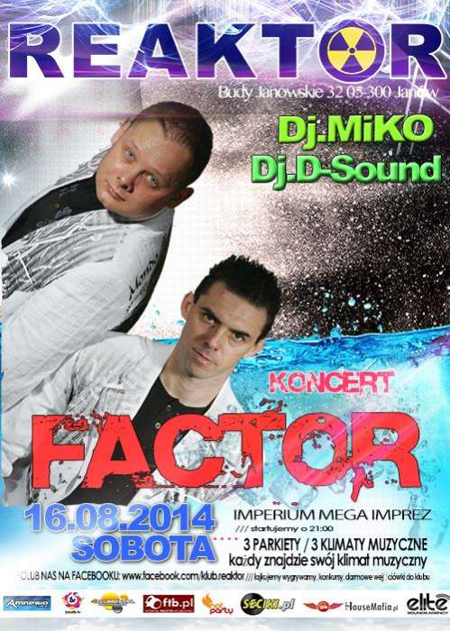 Klub Reaktor (Janów) - Koncert Factor (16.08.2014)