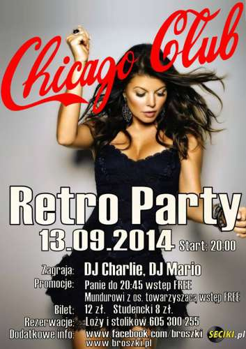Chicago Club (Broszki) - Retro Party (13.09.2014)
