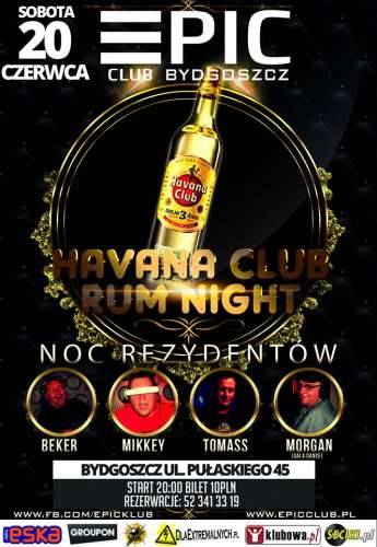 Club Epic Bydgoszcz - Havana Club Rum Night (20.06.15)