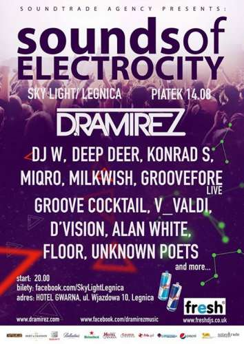 Sounds of Electrocity 2015 - LINEUP DJ'S (Sky Light Legnica)