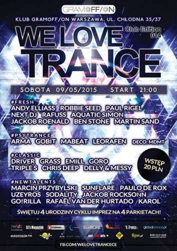 Klub GramOFFON (Warszawa) - We Love Trance CE 014 - Rafuss & Aquatic Simon (09.05.15)