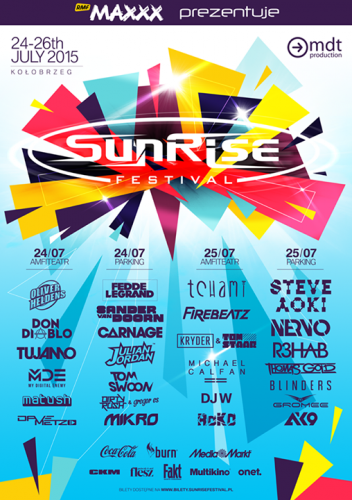 Sunrise Festival 2015 - Dzie� 1 (Pi�tek, 24.07.2015)
