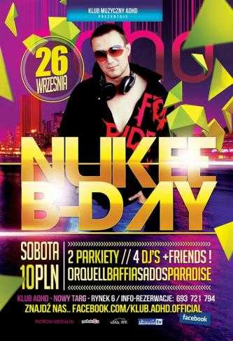 Klub ADHD (Nowy Targ) - Nukee Birthday Party (26.09.2015)