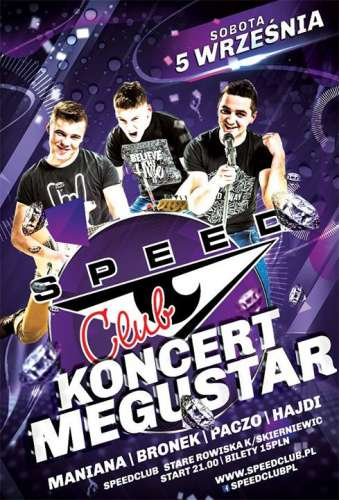 Speed Club - Koncert Megustar (05.09.2015)