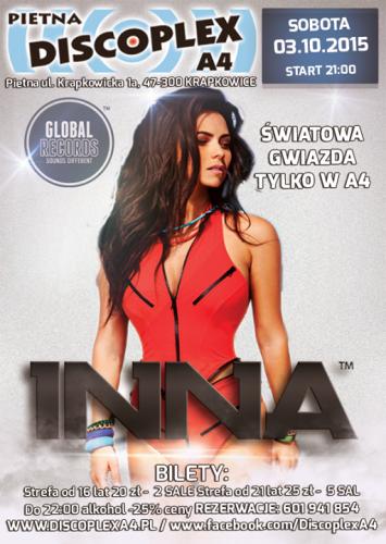 Discoplex A4 Pietna - INNA (Światowa Gwiazda w Klubie) 03.10.2015