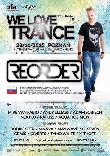 Alternativa Club Poznań - We Love Trance Club Edition 28.11.2015