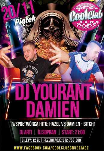 Cool Club (Grudziądz) - Dj Yourant, Damien (20.11.2015)