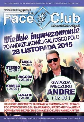 Face Club, Gdynia - Koncert zespołu Andre (28.11.2015)