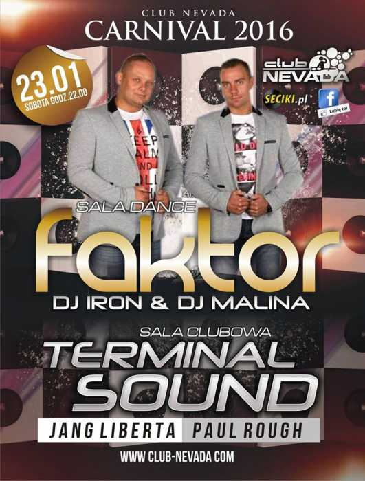 Klub Nevada (Nur) - Koncert Factor I Terminal Sound (23.01.2016)