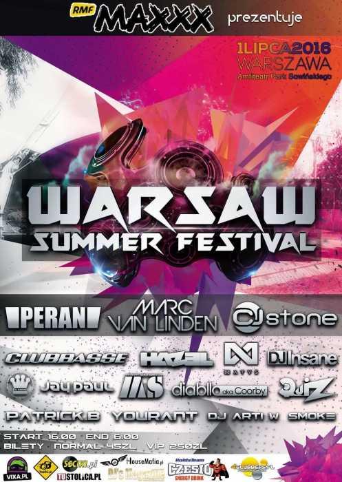 Warsaw Summer Festival (01.07.2016) - kluby, festiwale, plenery, klubowa muza, disco polo