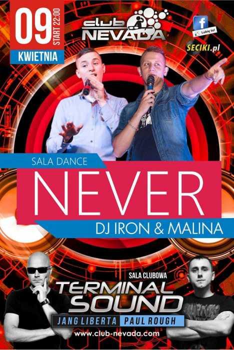 Klub Nevada (Nur) - Never & Terminal Sound (09.04.2016)