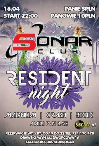 Klub Sonar (Drawski Młyn) - Resident Night (16.04.16)
