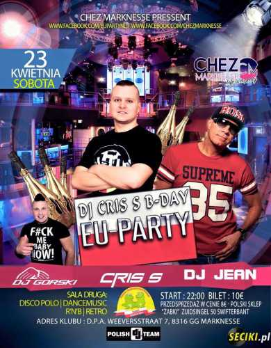 EuParty (Marknesse, NL) - DJ Cris S (23.04.2016)