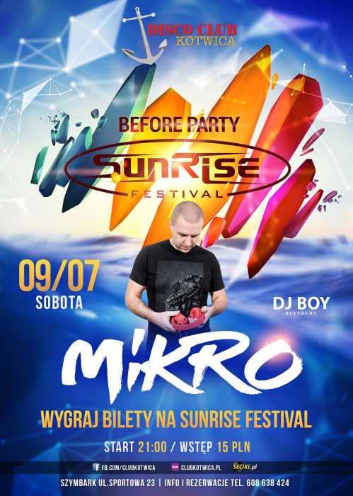 Disco Club Kotwica (Szymbark) - Before Party Sunrise Festival (09.07.16)