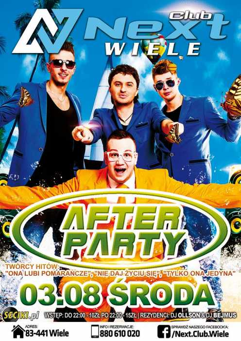 Next Club (Wiele) - AFTER PARTY (3.08.2016)