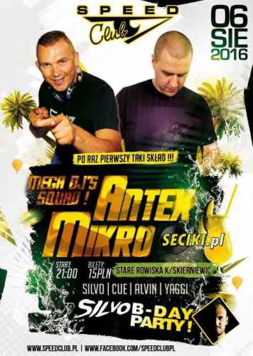 Speed Club (Stare Rowiska) - Dj Antex (06.08.2016)