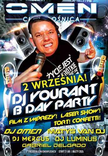 Klub Omen Płośnica - Urodziny DJa Youranta (rezydenta) 02.09.2016