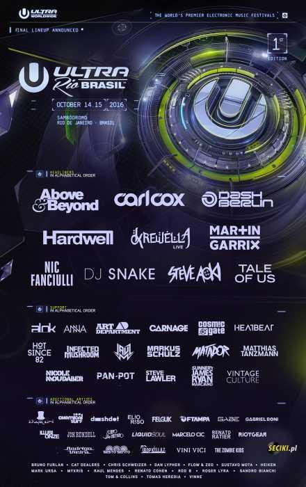 Klub Ultra Music Festival, Sety 2016 - Najnowsze Sety