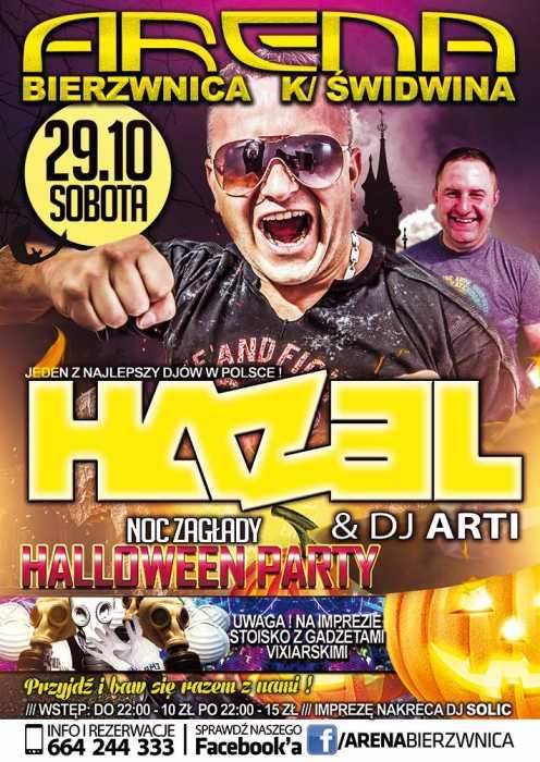 Klub Arena (Bierzwnica) - HALLOWEEN PARTY - DJ HAZEL (29.10.16)