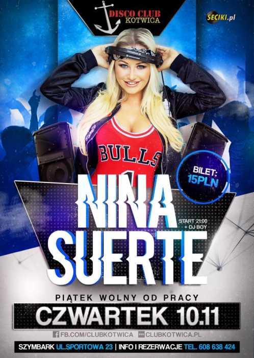 Disco Club Kotwica (Szymbark) - Nina Suerte  (10.11.2016)