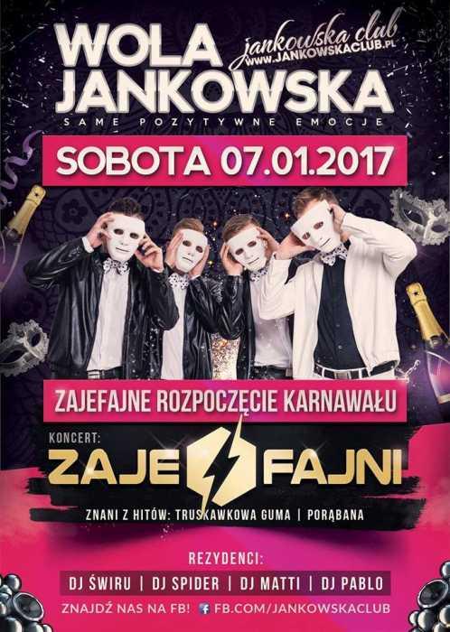 Jankowska Club (Wola J.) - Koncert ZAJEFAJNI (7.01.2017)
