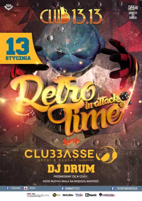 Klub 13.13 (Poznań) - Retro Time In Attack (13.07.2017) - kluby, festiwale, plenery, klubowa muza, disco polo