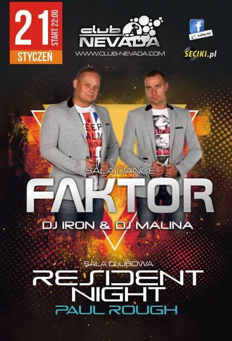 Nevada (Nur) - Faktor & Resident Night (21.01.2017)