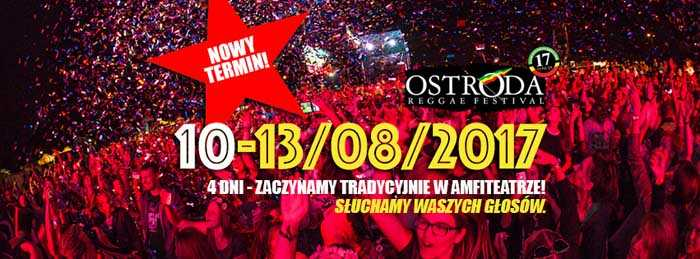 Ostróda Reggae Festival 10-13.08.2017 - kluby, festiwale, plenery, klubowa muza, disco polo