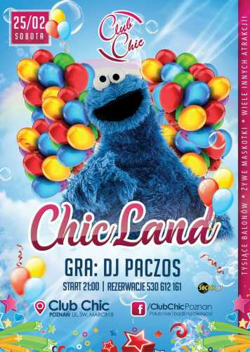 Klub Chic (Poznań) - DJ Paczos - CHICLAND (25.02.17 )