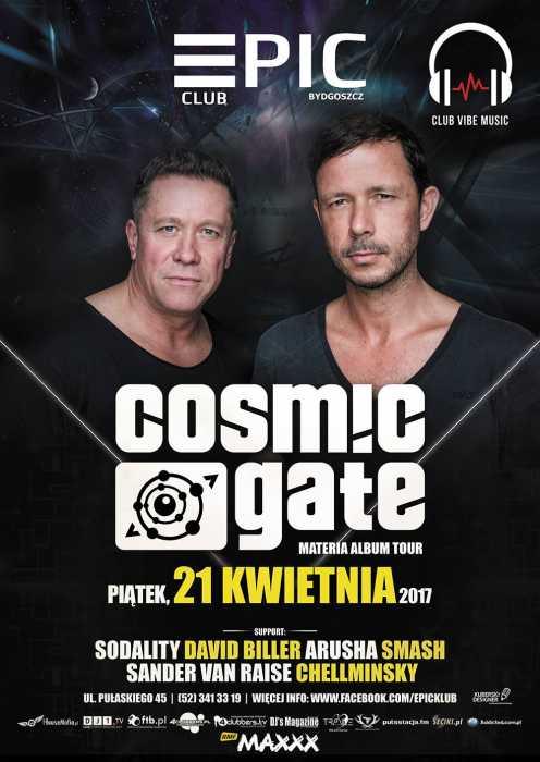 EPIC KLUB (Bydgoszcz) - COSMIC GATE (21.04.2017) - kluby, festiwale, plenery, klubowa muza, disco polo