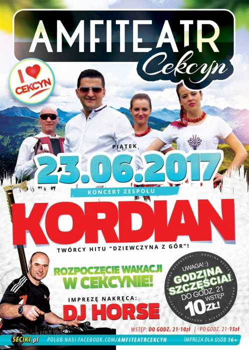 Amfiteatr (Cekcyn) - Koncert Kordian (23.06.2017) - kluby, festiwale, plenery, klubowa muza, disco polo