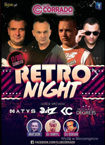 Corrado (Suchowola) - Retro Night (17.06.2017)