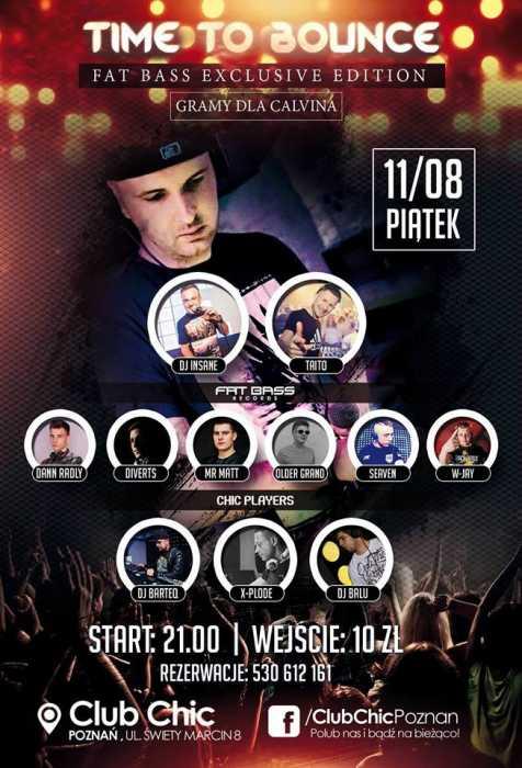 Club Chic Poznań - Gramy dla Calvina (11.08.2017) - kluby, festiwale, plenery, klubowa muza, disco polo