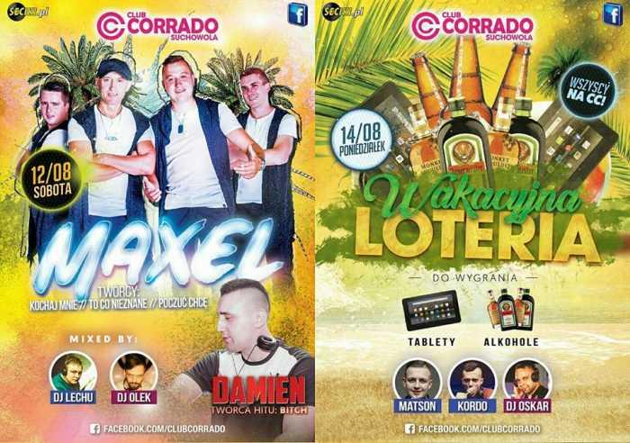 Corrado (Suchowola) - WAKACYJNA LOTERIA (12/14.08.2017) - kluby, festiwale, plenery, klubowa muza, disco polo