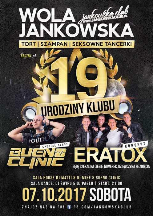 Jankowska Club (Wola Jankowska) - 19' URODZINY KLUBU  (7.10.17) - kluby, festiwale, plenery, klubowa muza, disco polo